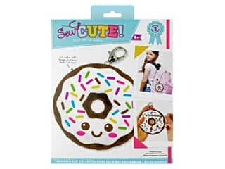 Colorbok Kit Sew Cute Backpack Clip Donut