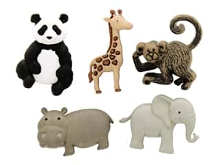 craft & hobbies: Jesse James Embellishments - Zoo Cuties