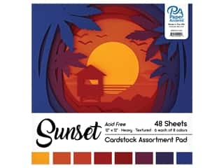 scrapbooking & paper crafts: Paper Accents 12 x 12 in. Cardstock Pad 48 pc. Sunset