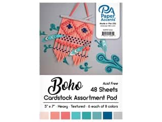 Paper Accents 5 x 7 in. Cardstock Pad 24 pc. Boho