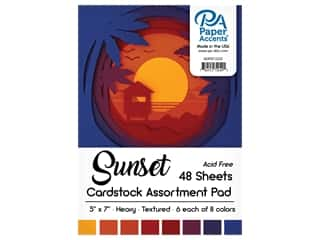Paper Accents 5 x 7 in. Cardstock Pad 24 pc. Sunset
