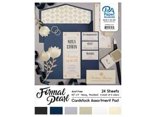 scrapbooking & paper crafts: Paper Accents 8 1/2 x 11 in. Cardstock Pad 24 pc. Formal Pearl
