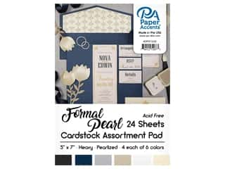 scrapbooking & paper crafts: Paper Accents 5 x 7 in. Cardstock Pad 24 pc. Formal Pearl