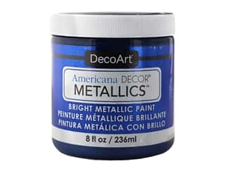 craft & hobbies: DecoArt Americana Decor Metallics - Deep Sapphire 8 oz.