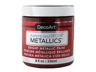 craft & hobbies: DecoArt Americana Decor Metallics 8 oz Garnet