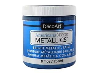 craft & hobbies: DecoArt Americana Decor Metallics 8 oz Sapphire