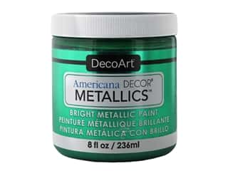 craft & hobbies: DecoArt Americana Decor Metallics - Emerald 8 oz.