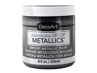craft & hobbies: DecoArt Americana Decor Metallics 8 oz Obsidian