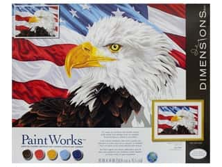 craft & hobbies: Paintworks Paint By Number Kit 20 x 14 in. Bald Eagle