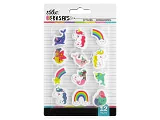 novelties: American Crafts Tools Sticko Erasers Fantasy Small 12 pc