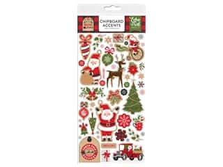 scrapbooking & paper crafts: Echo Park Collection My Favorite Christmas Chipboard 6 in. x 12 in. Accents