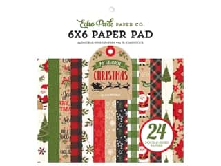 Echo Park Collection My Favorite Christmas Paper Pad 6 in. x 6 in.