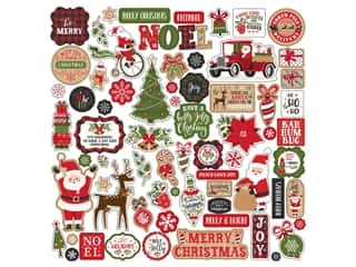 scrapbooking & paper crafts: Echo Park Collection My Favorite Christmas Sticker 12 in. x 12 in. Elements (15 pieces)