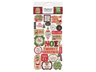scrapbooking & paper crafts: Echo Park Collection My Favorite Christmas Chipboard 6 in. x 12 in. Phrases