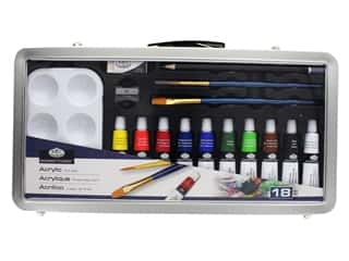 Royal Set Art Metal Case Acrylic Paint 18 pc