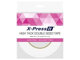 glues, adhesives & tapes: X-Press it High Tack Double Sided Tape 1/8 in. x 27 yd