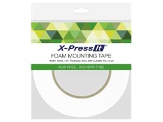 glues, adhesives & tapes: X-Press it Foam Mounting Tape Double Side 1/2 in. x 4.4 yd