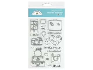 Doodlebug Collection I Heart Travel Doodle Stamps