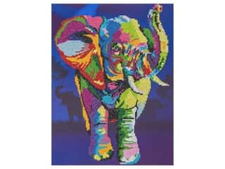 beading & jewelry making supplies: Diamond Art Kit 14 in. x 16 in. Advanced Elephant