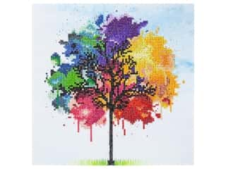 beading & jewelry making supplies: Diamond Art Kit 12 in. x 12 in. Intermediate Rainbow Tree