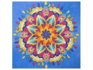 craft & hobbies: Diamond Art Kit 12 in. x 12 in. Intermediate Mandala Blue