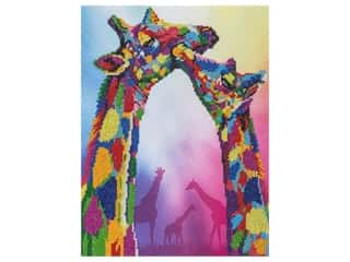 diamond art: Diamond Art Kit 14 in. x 16 in. Advanced Giraffe