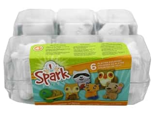craft & hobbies: Colorbok Kit Spark Plaster Value Pack Forest Critters