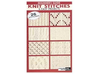 books & patterns: Leisure Arts Beginner's Guide Knit Stitches & Easy Projects Book