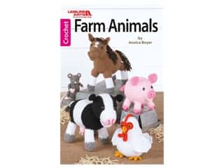 novelties: Leisure Arts Farm Animals Crochet Book
