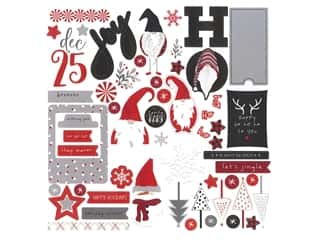scrapbooking & paper crafts: Photo Play Collection Kringle & Co Card Kit Sticker (12 pieces)
