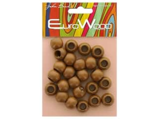 beading & jewelry making supplies: John Bead Wood Bead Round Large Hole 14 mm x 11 mm Coffee