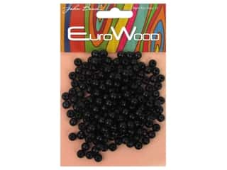 beading & jewelry making supplies: John Bead Wood Bead Round 6 mm Black