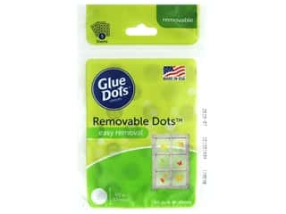 glues, adhesives & tapes: Glue Dots Sheet Removable 1/2 in. 60 pc.
