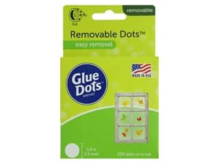 glues, adhesives & tapes: Glue Dots Roll Removable 1/2 in. 200 pc.