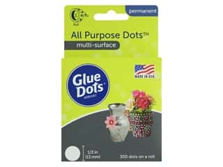 glues, adhesives & tapes: Glue Dots All Purpose 1/2 in. 300 pc.