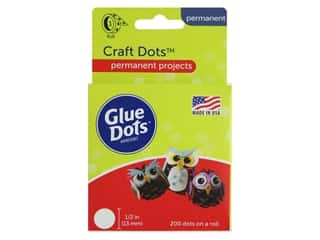 glues, adhesives & tapes: Glue Dots Craft 1/2 in. 200 pc.