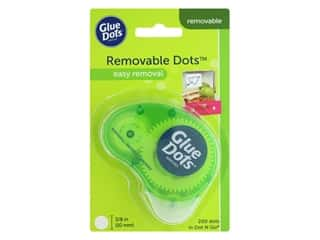 glues, adhesives & tapes: Glue Dots Removable 3/8 in. Dispenser 200 pc