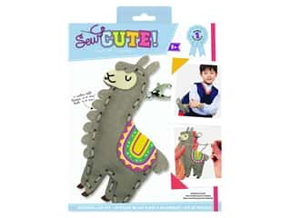 projects & kits: Colorbok Sew Cute! Backpack Clip Kit - Llama