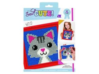projects & kits: Colorbok Kit Sew Cute Needlepoint Lola Cat