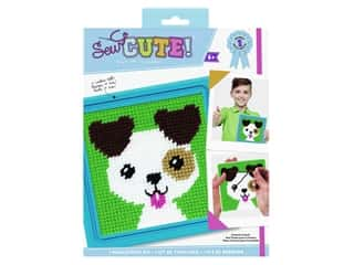 projects & kits: Colorbok Kit Sew Cute Needlepoint Jack Dog