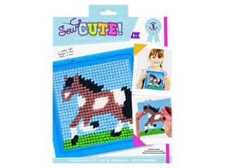 yarn: Colorbok Sew Cute! Needlepoint Kit - Horse