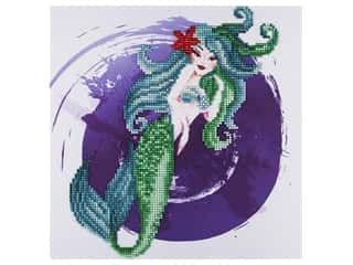 beading & jewelry making supplies: Diamond Art Kit 12 in. x 12 in. Intermediate Mermaid
