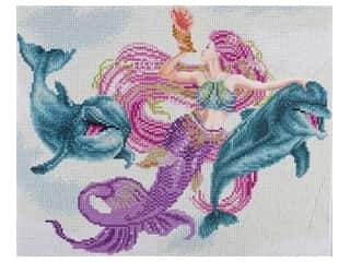 beading & jewelry making supplies: Diamond Art Kit 14 in. x 16 in. Advanced Mermaid & Friends