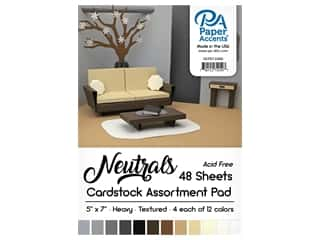 scrapbooking & paper crafts: Paper Accents 5 x 7 in. Cardstock Pad 48 pc. Neutral