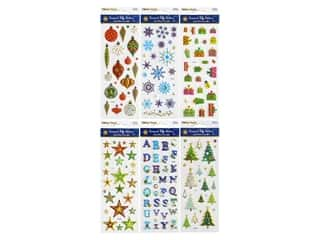 Multicraft Sticker Holiday Puffy Foil 6 Styles #1 (6 sets)