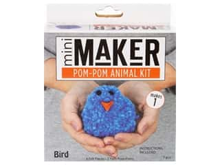 craft & hobbies: Leisure Arts Mini Maker Kit Pom Pom Bird
