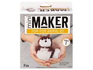 craft & hobbies: Leisure Arts Mini Maker Kit Pom Pom Fox