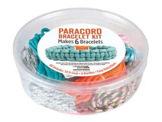 craft & hobbies: Leisure Arts Kit Paracord Bracelet Bright