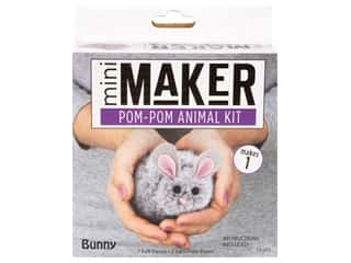 craft & hobbies: Leisure Arts Mini Maker Kit Pom Pom Bunny