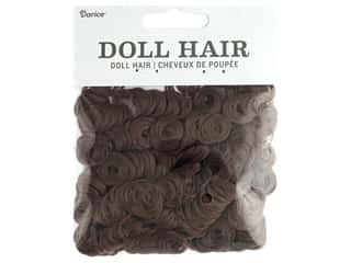 Darice Doll Hair Curly Auburn Brown 1/2 oz.